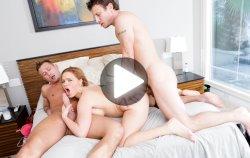 hardcore threesome